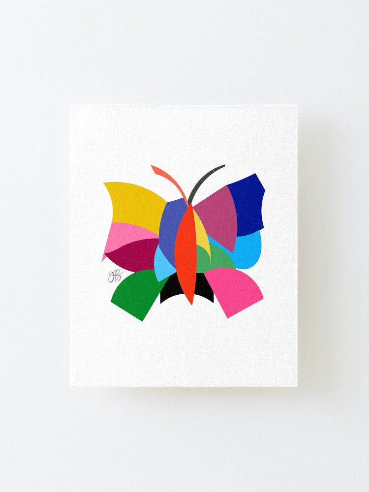 Alternate view of Abstract Butterfly Mounted Print