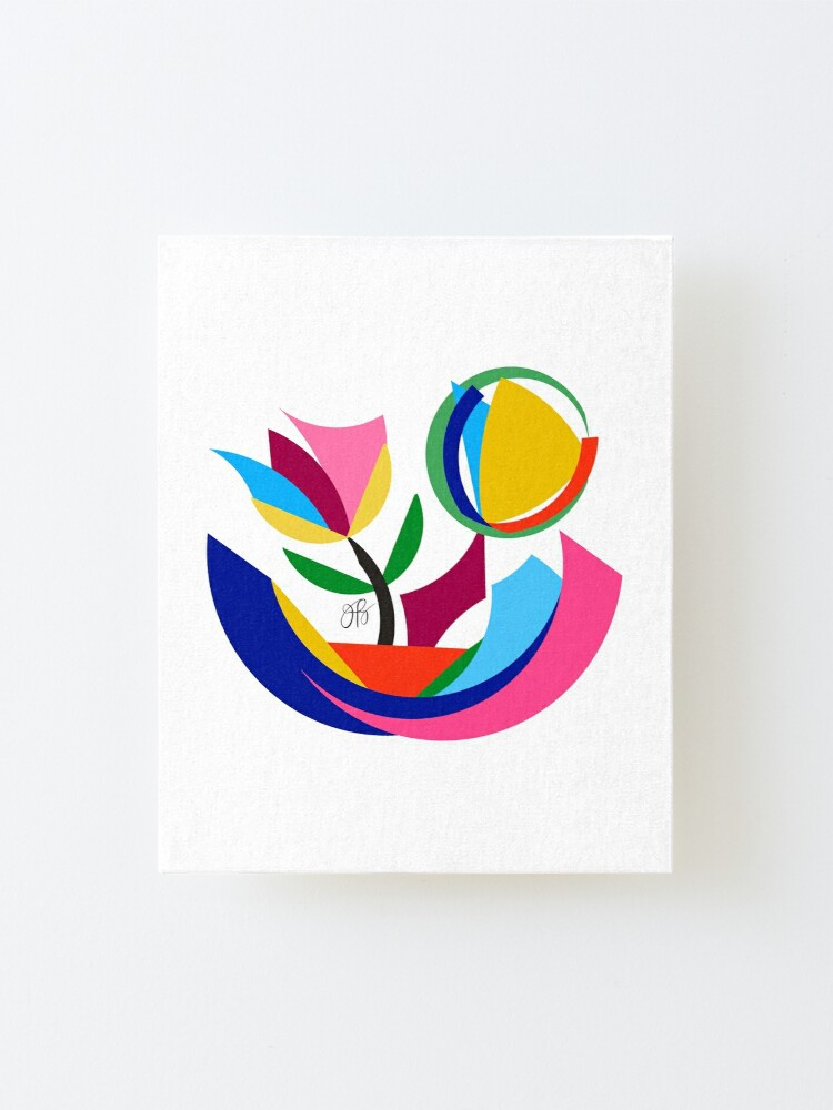 Alternate view of Abstract Flower Dish Mounted Print