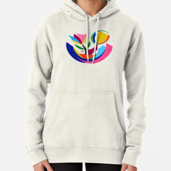 Abstract Flower Dish Pullover Hoodie