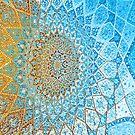 blue mandala  by Bruce  Dickson