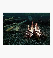 Beach Campfire Photographic Print