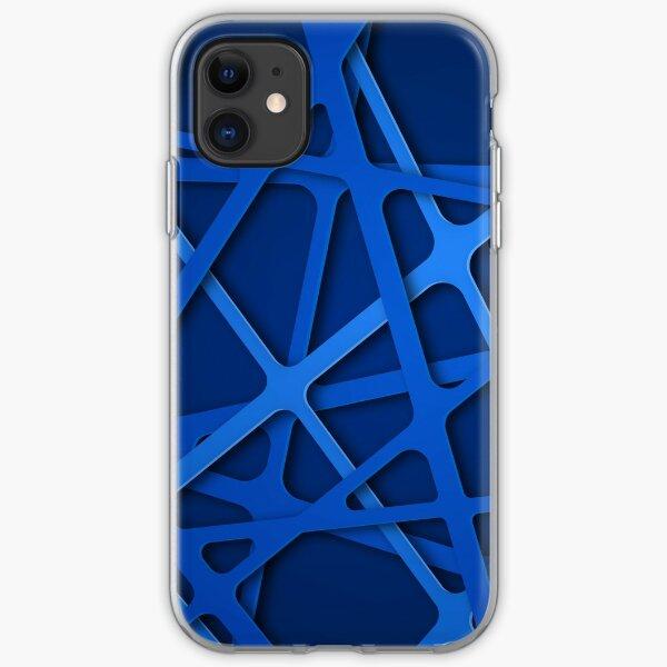 Blue grid iPhone Soft Case