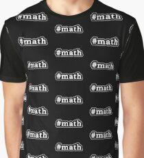 Math - Hashtag - Black & White Graphic T-Shirt