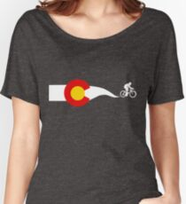 Colorado Flag Cyclist Women's Relaxed Fit T-Shirt