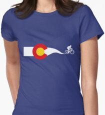 Colorado Flag Cyclist Women's Fitted T-Shirt