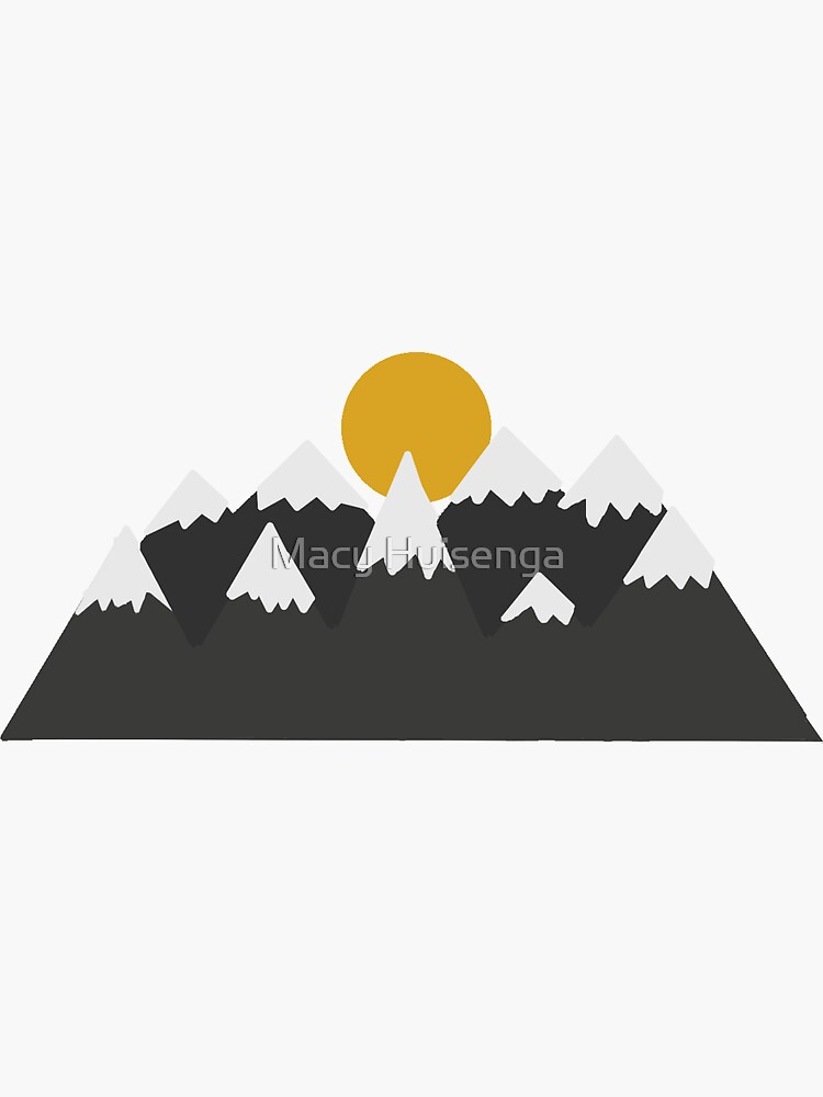 Mountains with a Sun by macyhuisenga