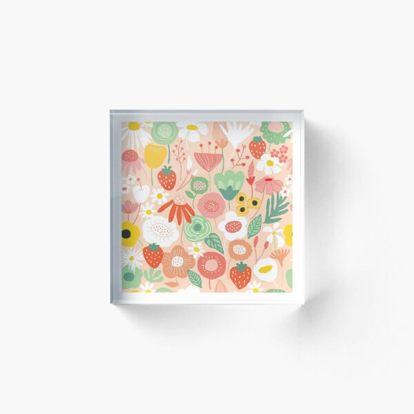 Midsummer floral bliss Acrylic Block