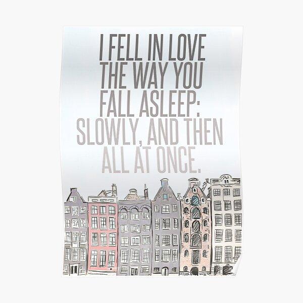 The Way You Fall Asleep Poster