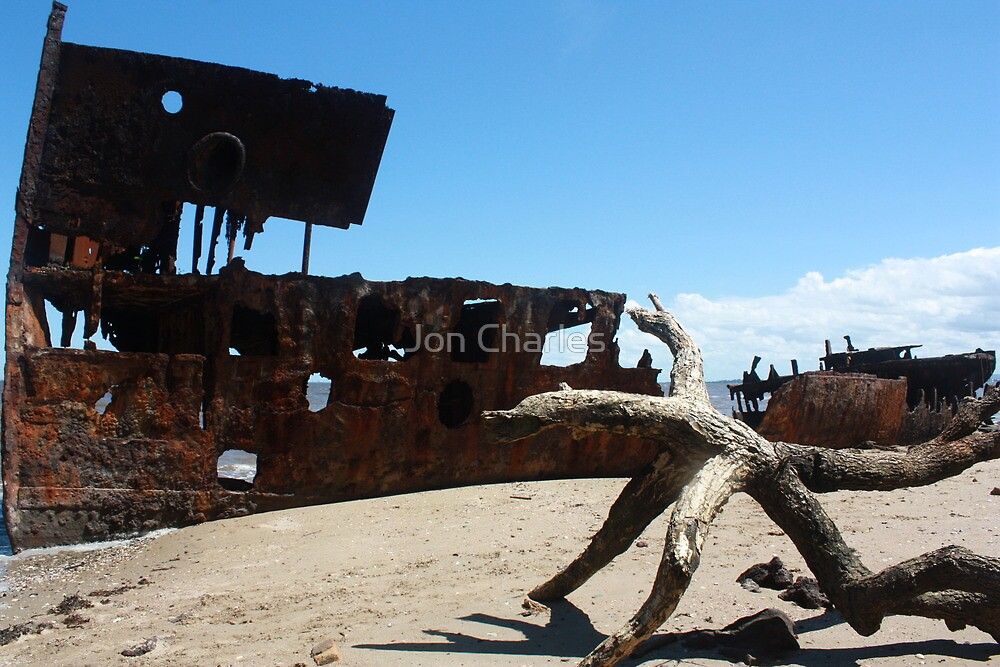 Driftwood Shipwreck by Jon Charles