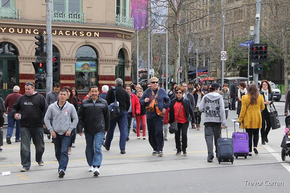 People in Melbourne by Trevor Corran