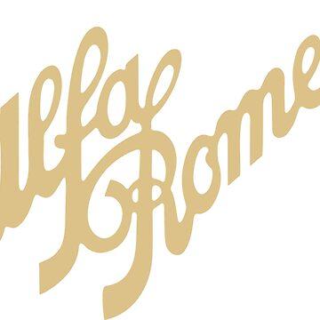 Alfa Romeo script in GOLD by Fobrocks