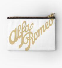 Alfa Romeo script in GOLD Studio Pouch