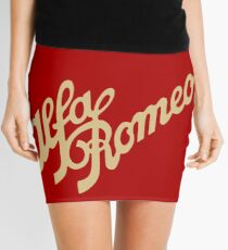 Alfa Romeo script in GOLD Mini Skirt