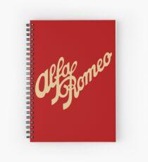 Alfa Romeo script in GOLD Spiral Notebook