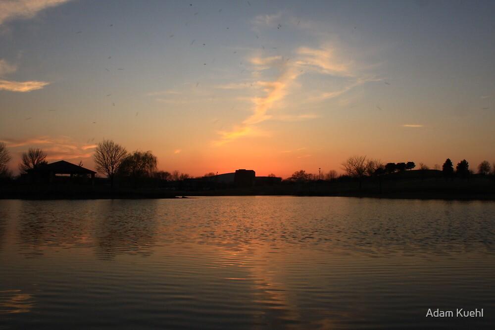 Orange Sunset over Lisle High School by Adam Kuehl