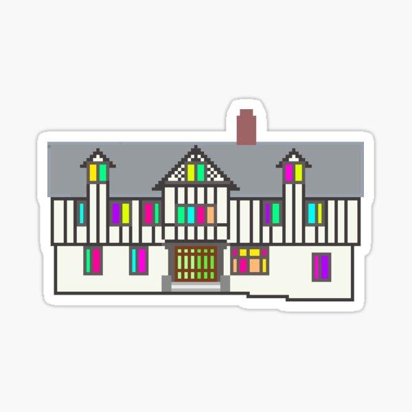 Pixel Terrace Glossy Sticker