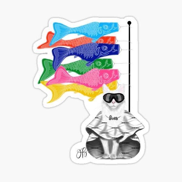 Boss Babe Windsock Fish Sticker