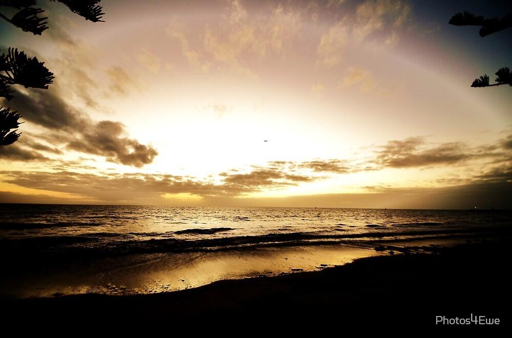 Sea by Seawall by Mel  LEE