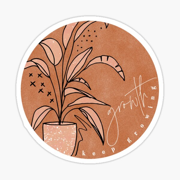 Cute Keep Growing/Growth Sticker  Sticker