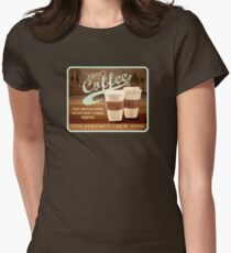 Castle's Coffee T-Shirt Women's Fitted T-Shirt