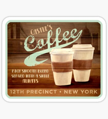 Castle's Coffee T-Shirt Sticker