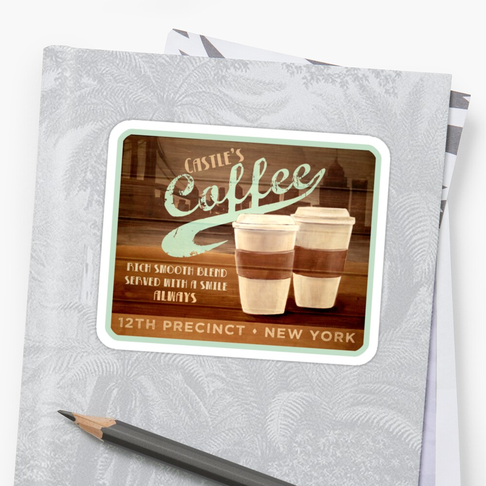 Castle's Coffee T-Shirt by Sarah  Mac Illustration