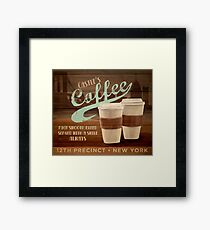 Castle's Coffee T-Shirt Framed Print