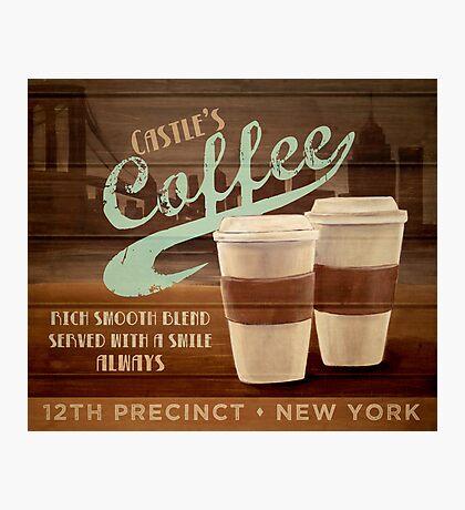 Castle's Coffee T-Shirt Photographic Print