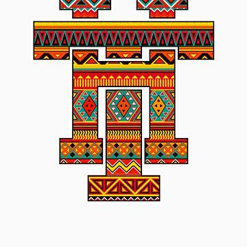 Aztec Monogram by HammerandTong