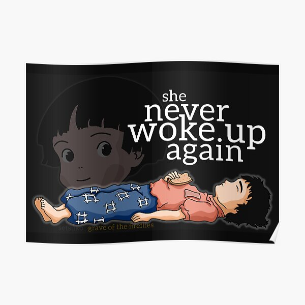 Grave Of The Fireflies Posters Redbubble