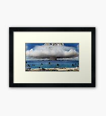 Colorized Operation Crossroads Baker, Bikini Atoll,1946 Framed Print
