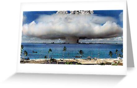 Colorized Operation Crossroads Baker, Bikini Atoll,1946 by Sanna Dullaway