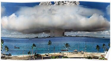 Quot Colorized Operation Crossroads Baker Bikini Atoll 1946