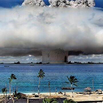 Colorized Operation Crossroads Baker, Bikini Atoll,1946 by SannaDullaway