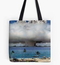 Colorized Operation Crossroads Baker, Bikini Atoll,1946 Tote Bag