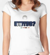What Would The Doctor Do? Women's Fitted Scoop T-Shirt