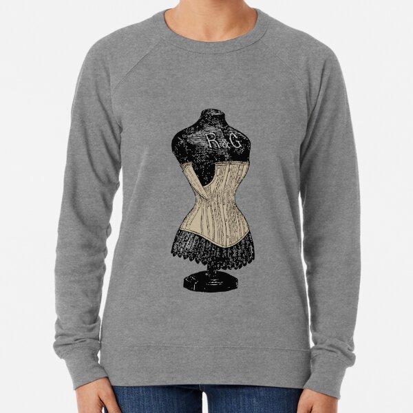Vintage Corset | Victorian Corset | Corset on Dress Form | Lightweight Sweatshirt