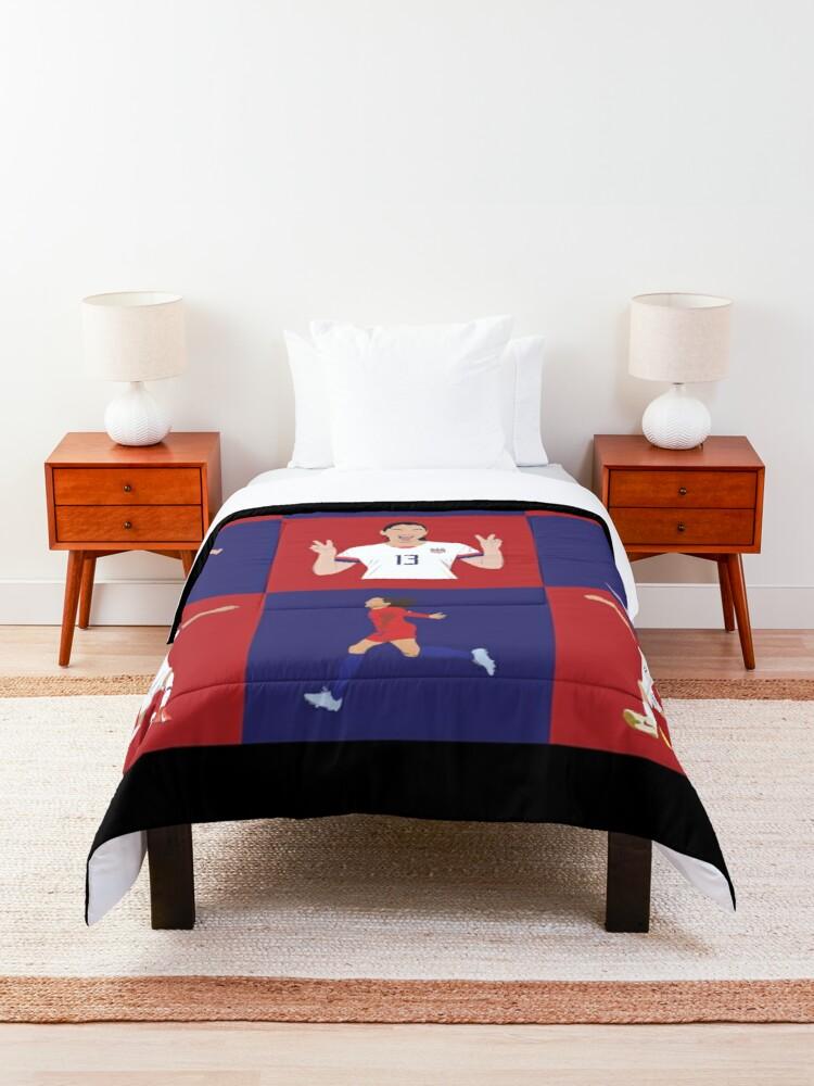 Alternate view of USWNT Players Brady Bunch Style  Comforter