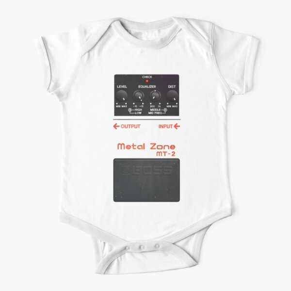 Metal Zone Guitar Pedal Short Sleeve Baby One-Piece