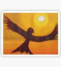 Red Crow Repulsing the Monkey original painting Sticker