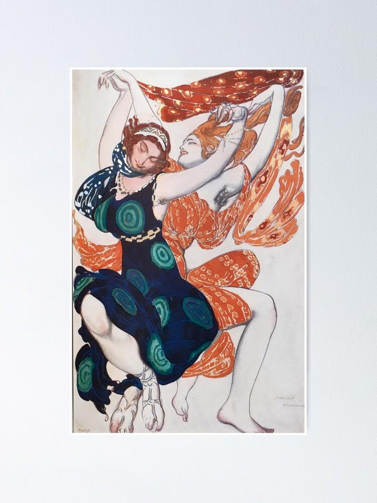 Alternate view of Leon Bakst Costume Illustration, 1911 Poster