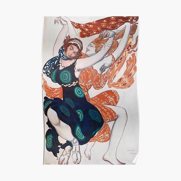 Leon Bakst Costume Illustration, 1911 Poster