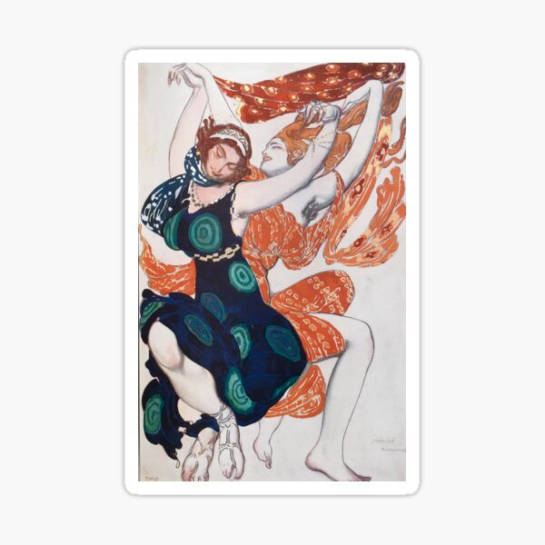 Leon Bakst Costume Illustration, 1911 Sticker