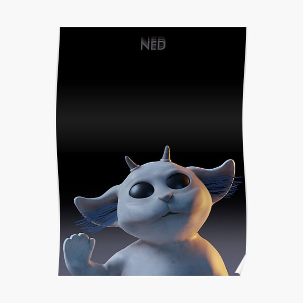 Ned little alien top Póster