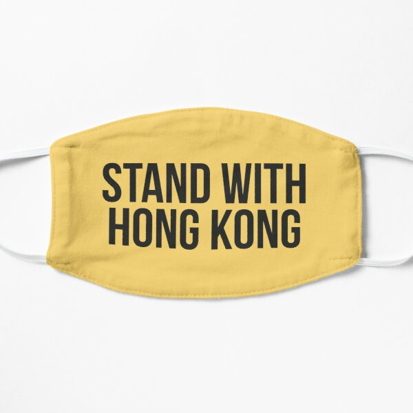 Stand With Hong Kong Flat Mask
