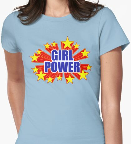 Girl Power Stars Wonder Woman Theme T-shirt Ladies