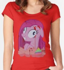 Pinkamena's Bloody Cupcakes Women's Fitted Scoop T-Shirt