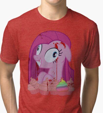 Pinkamena's Bloody Cupcakes Tri-blend T-Shirt