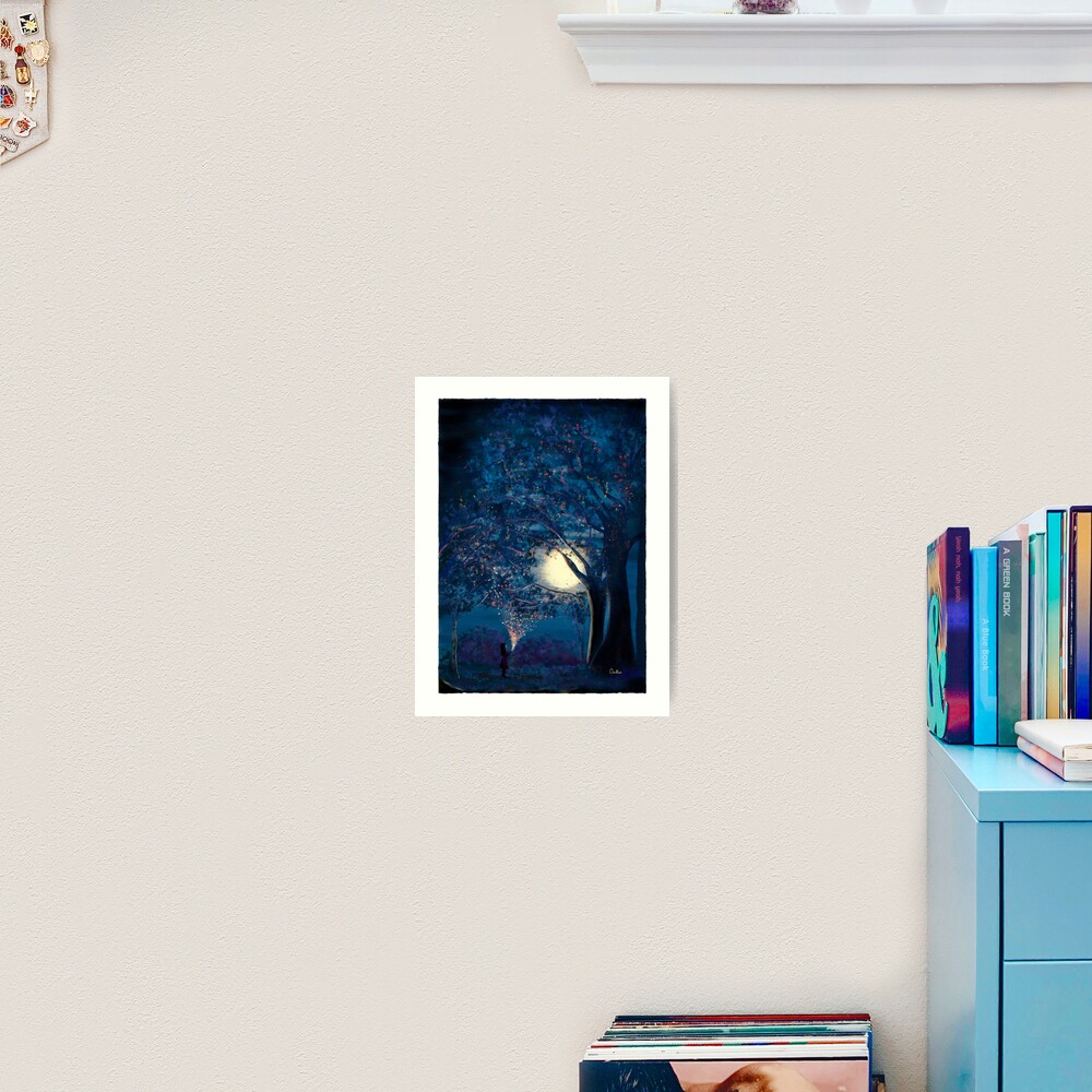 Moonlit Enchanted Woods by Annalisa Amato Art Print