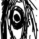 Black and White Digital Sketch of an Eye by JoeJoeT